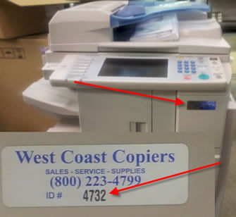 Where to find your Copier ID Number