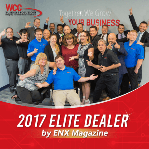 WCC Business Solutions 2017 Elite Dealer by ENX Magazine